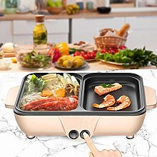 Portable Mini Electric Grill, 2 IN 1 Electric Hot