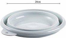 Portable Multifunctional Round Washing Up Bowl