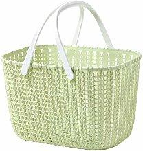 Portable rattan storage basket Bathroom shower