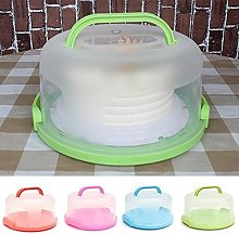 Portable Round Cake Dome Holder Container Carrier
