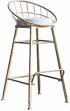 Portable Sofa Sofa Chair New Nordic bar Stool Gold