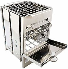 Portable Stainless Steel Charcoal Barbecue Grill