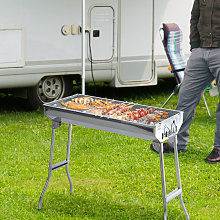Portable Stainless Steel Charcoal BBQ Grill Picnic