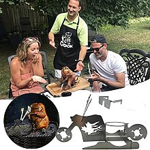Portable Stainless Steel Chicken Stand - Portable