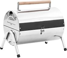 Portable Tabletop Charcoal BBQ Grill Stainless