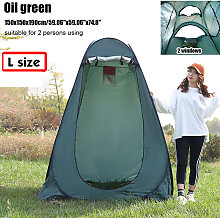 Portable Up Tent 150x150x190cm Oil Green Privacy