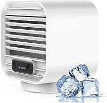 Portable wireless spray humidifying and cooling