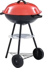 Portable XXL Charcoal Kettle BBQ Grill with Wheels