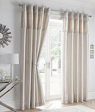 Portfolio Crushed Velvet Curtains Faux Silk Lined