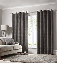 Portfolio Eyelet Fully Lined Ring Top Curtains,