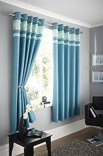 Portfolio Logan Lined Curtain Ringtop 66X90 Teal