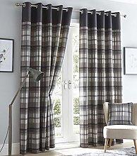 Portfolio Orleans Curtains, Grey, 90 x 90