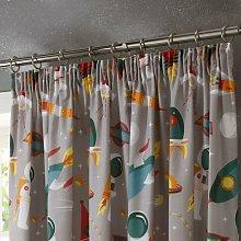 Portfolio Spaceman 66x72' Eyelet Curtain Pair