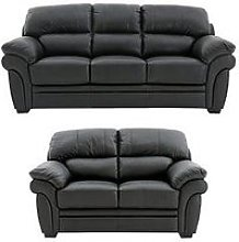 Portland 3 Seater + 2 Seater Leather Sofa (Buy And