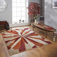 Portland 3337 E Rug Red Terracotta Beige Deep