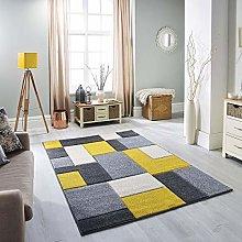Portland 8425 I Rug Grey Charcoal Cream Yellow