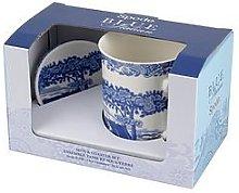 Portmeirion Spode Blue Italian Mugs And Coaster Set