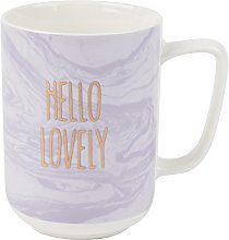 Portobello® COMBO-3512 Hello Lovely Mugs, Pastel