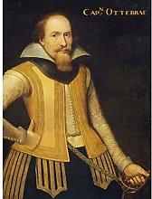Portrait Captain Otto Brahe Yellow Uniform Art