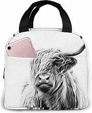Portrait of A Highland Cow Lunch Bag,Reusable