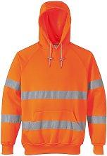 Portwest Unisex Hi-Vis Safety Hooded Sweatshirt /