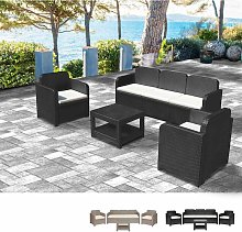 POSITANO Garden Lounge Set 2 Chairs 1 Sofa 1 Table