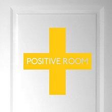 Positive Room Door Wall Sticker Happy Larry