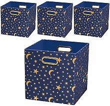 Posprica Collapsible Canvas Storage Bin Organizer