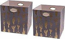 Posprica Foldable Cloth Storage Cube Basket Bins
