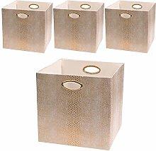 Posprica Storage Bins, Storage Cubes,11×11 Fabric