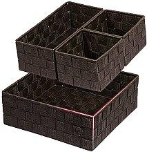 Posprica Woven Storage Box Cube Basket Bin
