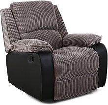 Postana Grey Fabric Recliner Armchair