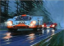 Poster 24 hOURS OF LE MANS Racing Car Canvas