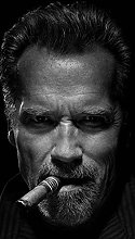Poster Artworks Arnold Schwarzenegger Smoke Cigar
