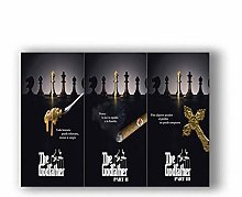 Poster Classic Movie Gangsters Godfather Art Home