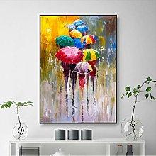 Poster Modern Abstract Lover rain Landscape Oil