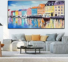 Poster Scandinavian Nordic Style Oil Painting
