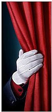 posterdepot Door Curtain Just for Show Hand Behind