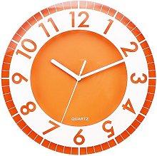 Postershop ZH09793B Wall Clock, Plastic, Orange,