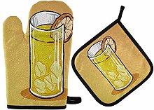 Pot Holders Oven Mitts Sets - Orange Juice Oven