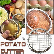 Potato Cutter, Stainless Steel Manual Potato