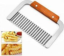 Potato Cutter,Vegetable Potato Slicer Wavy Edged