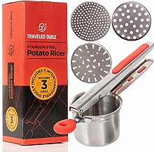 Potato Ricer - Stainless Steel Press for Mashed