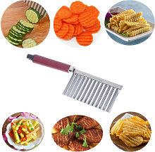Potato Ripple Knife Crinkle Cutter Wavy Chopper