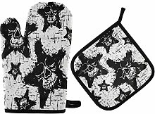 Potholders and Oven Mitts Sets Heat Resistant