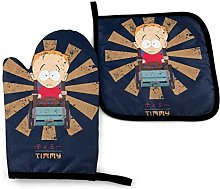 Potholders and Oven Mitts,Timmy Retro Japanese