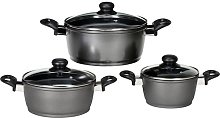Potsdam 3 Piece Cookware Set with Lids Karl Kruger