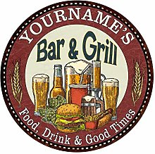 PotteLove Personalised Bar And Grill Vintage Metal