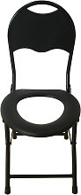 Potty Chair Non-slip Foldable Medical Record Commode Chair