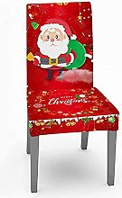 POUAOK Christmas Chair Covers,Red Santa Clause